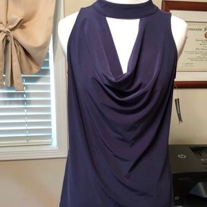NWT navy cowl neck tank.  Medium